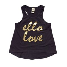 Ello Love High Low Tank Top in Black