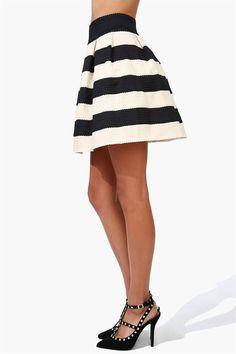 Classic Bandage Skirt in Black/Ivory