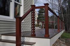 38 best cable railing deck images banister ideas railing ideas rh pinterest com