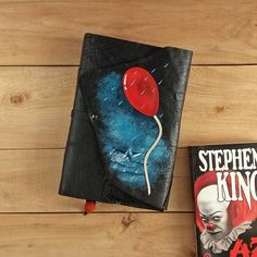 IT leather book cover / Pennywise the dancing clown / Stephen