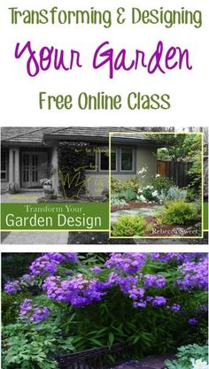 Beautiful Gardens: Transforming and Designing Your Garden Free Online Class! #gardening
