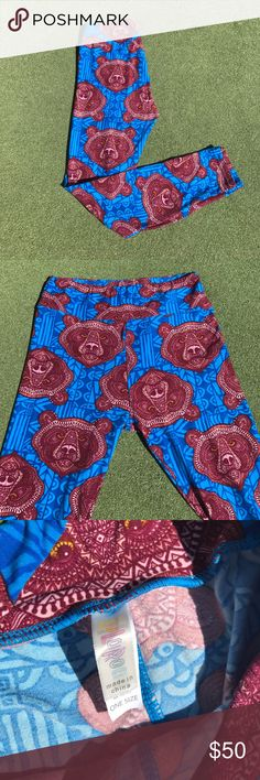 LuLaRoe OS Mosaic Bear Leggings LuLaRoe OS Mosaic Bear Leggings.  Hard to Find Print. Very popular and highly sought after print. BNWT. Smoke free home. Is this your Unicorn, Arrow, Elephant, Disney Roses, Paisley, Tiger or Owl Print? I provide same or next day shipping, depending on time of purchase. LuLaRoe Pants Leggings