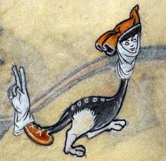 v-glove  'The Maastricht Hours', Liège 14th century  British Library, Stowe 17, fol. 197v