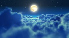 the moon at night with clouds - Google Search