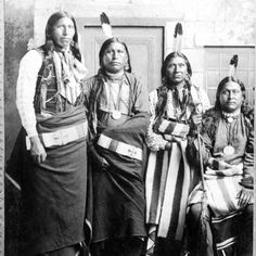 L-R: Eagle Chief, Knife Chief, Brave Chief, Young Chief - Pawnee - 1886 Native American Images, Native American History, Native American Indians, Native Americans, Cherokee Indians, Plains Indians, Native Indian, Indiana, American Indian Wars