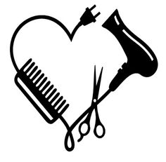 Silhouette Design Store: Hair Stylist Logo - From November 2018 I started my internship through school and I did an internship at a hairdresser. Silhouette Design, Silhouette Cameo Projects, Cricut Vinyl, Vinyl Decals, Machine Silhouette, Silhouette Store, Silhouette Vinyl, Hairstylist Quotes, Hairstylist Tattoos