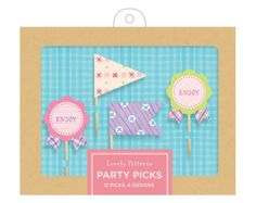 Lovely Pattern Party Picks from Galison Available at: www.evansandhall.com.au