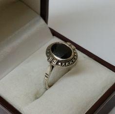 Vintage Ringe - Nostalgischer Ring 925er Silberring mit Onyx SR533 - ein Designerstück von Atelier-Regina bei DaWanda