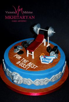 Gym Cake For The Best Boss By Art Cakes V M Mkhit