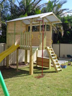 Large Fort. Custom made cubby house by My Cubby #Australia #outsideplay #backyard
