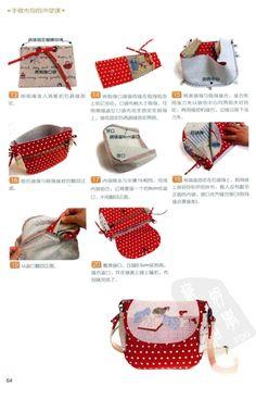 Red polkadot bag tuto #2