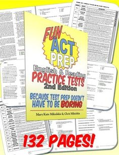 **NEWLY UPDATED FOR THE 2015-2016 SCHOOL YEAR!**By popular demand, we are proud to release the 2nd edition of our best-selling test-prep workbook! These English and Reading practice standardized tests are designed to look just like the ACT, but with original, high-interest, teen-friendly topics to maintain student interest!27 total ACT-style English & Reading passages345 questions using ACT-style question stems, assessing English & Reading College Readiness standards**NEW!!