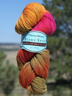 Bijou Basin Ranch - Tibetan Dream Sock Yarn, $49.95 (http://www.bijoubasinranch.com/tibetan-dream-sock-yarn/)