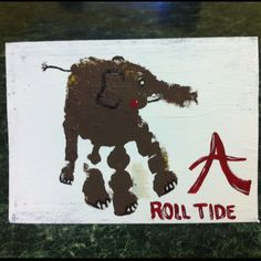 """Hand""made Roll Tide Birthday Card...pretty cool!"