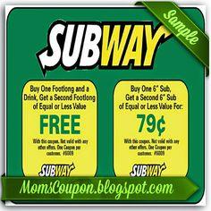 Subway Coupon February 2015