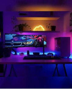 Best Gaming Setup, Gamer Setup, Gaming Room Setup, Pc Setup, Gaming Rooms, Computer Desk Setup, Gaming Pc On Desk, Tech Room, Bedroom Setup