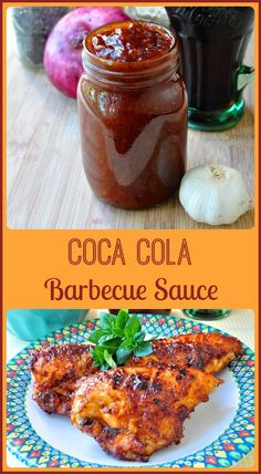 Coca Cola Barbecue Sauce - spicy sweet with a unique flavour! This sweet spicy Coca Cola Barbecue Sauce has a unique background flavor from reducing the cola during the sauce's slow simmer; especially delicious on ribs. Barbecue Sauce Recipes, Grilling Recipes, Barbeque Sauce, Bbq Sauces, Vegetarian Grilling, Healthy Grilling, Barbecue Chicken, Vegetarian Food, Coke Chicken