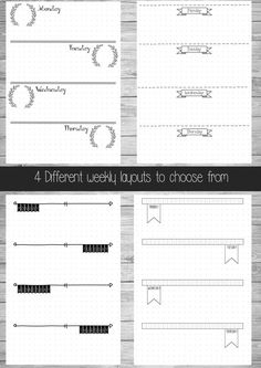 Printable Bullet Journal Pages A5 A4 US door ScatteredPapers1