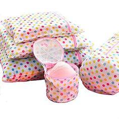 5 Set Laundry Wash Bags - Mr.Pro Bra Wash Bag Underwear Lingerie Sock Mesh Net Wash Basket Bag Polka Dot, 3 Laundry Wash Bags and 2 Bra Wash Bags