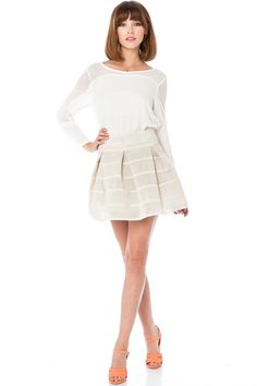ShopSosie Style : Banded Pouf Skirt