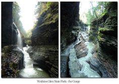 Images of the gorge in Watkins Glen State Park, NY