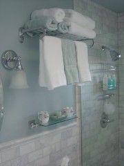 Hotel Shelves Aka Train Rack. Bath Towel .