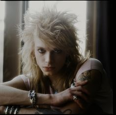 Michael Monroe in a hotel room in Tokyo March 1990