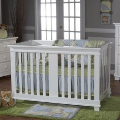 Pali Lucca Collection Forever Crib in White