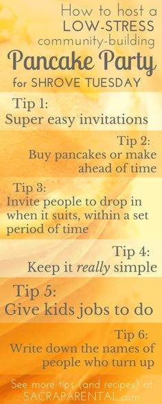 Shrove Tuesday: How to host a low-stress, community-building Pancake Party - Sacraparental