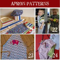 Kids Apron Pattern...even a cute no-sew pattern made from a dish towel!