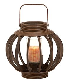 Take a look at this Bamboo Lantern by Curated Home Collection on #zulily today!