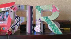 Letras decoradas  R  #scrap