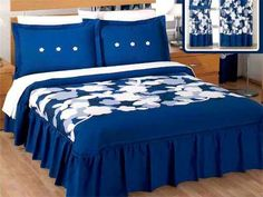 Pin Colchas Matrimoniales Varios Modelos Concord on Pinterest Bed Sets, Bed Cover Design, Designer Bed Sheets, Curtain Designs, Bed Covers, Home Decor Bedroom, Bed Spreads, Interior Design Living Room, Bedding Sets