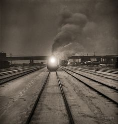 "January 1943. ""Freight operations on the Indiana Harbor Belt railroad between…"