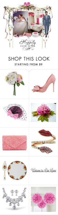 """""""Unbenannt #7618"""" by snowmoon ❤ liked on Polyvore featuring Delfina Delettrez, Royal Albert, WALL and Bling Jewelry"""
