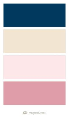 Navy, Champagne, Cream Rose, and Blush Wedding Color Palette - custom color palette created at MagnetStreet.com