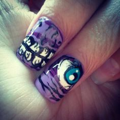 I thought you all might appreciate my zombie nail art zombie nails zombie nail art prinsesfo Choice Image