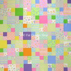DOZENS OF FREE QUILT PATTERNS @ http://www.fatquartershop.com/freequiltpattern.asp?Store_id=499=1 Baby Four Patch Free Crib Quilt Pattern