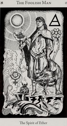 The Fool - Hermetic Tarot Deck by Godfrey Dowson. This card symbolizes one of the stages of the Fool's Journey towards self-discovery. The Fool stands for all of us. Carl Jung, Hermetic Tarot, Tarot The Fool, Tarot Significado, Tarot Major Arcana, Tarot Card Meanings, Oracle Cards, Tarot Decks, Archetypes