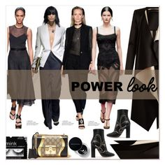 """""""GIRL POWER: Power Look"""" by ventevent ❤ liked on Polyvore featuring Roland Mouret, Valentino, Gucci, girlpower, polyvoreeditorial, guccibag and powerlook"""