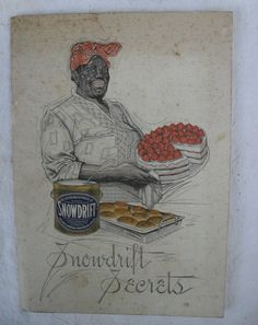 Vintage 1912 Snowdrift Secrets cookbook with mammy on cover. $24.00, via Etsy.