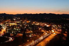 The Cut, view of Asheville, 10 seconds by saxrulzcp, via Flickr