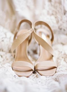 Nude strappy sandals: Photography : Allison Kuhn Photography Read More on SMP: http://www.stylemepretty.com/north-carolina-weddings/charlotte/2016/05/13/its-all-about-the-dress-but-this-groom-brought-his-style-a-game/