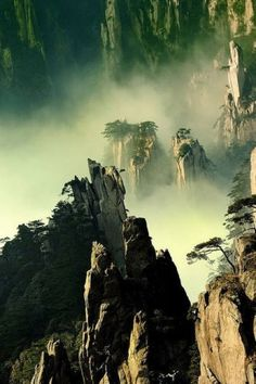Tianzi Mountains, China - The amazing view from. Foto Nature, All Nature, Amazing Nature, Nature Images, Tianzi Mountains, Beautiful World, Beautiful Places, Amazing Places, Landscape Photography