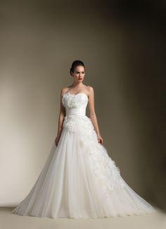 Floral vestido de novia