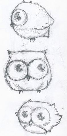 Design to draw - Draw Pattern - Cute little owl drawings... Draw Pattern & inspiration  Preview – Pattern    Description  Cute little owl drawings  – Source –