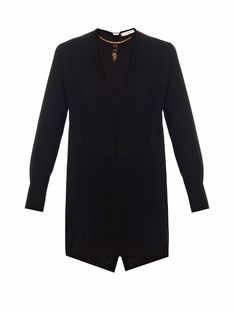 Valentino Scarab-necklace silk blouse