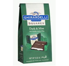Ghirardelli Dark Chocolate Squares with Mint Filling: 5-Ounce Bag