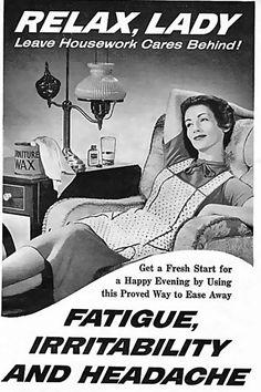 1950s furniture wax ad.