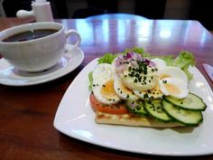 SWEDEN: A typical breakfast at home is an open-face sandwich layered with either fish or cold cuts, cheese, mayonnaise, and vegetables like cucumber and tomato.